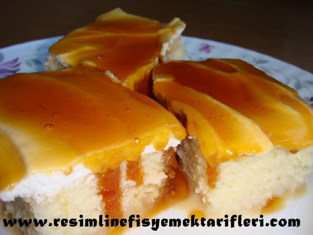 karamelli trileçe tatlısı nasıl yapılır