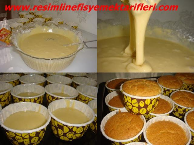 tahinli muffin kek nasıl yapılır